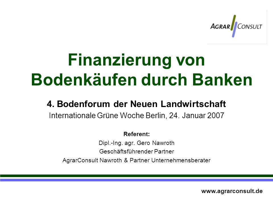 Finanzierung von Bodenkäufen durch Banken 4.