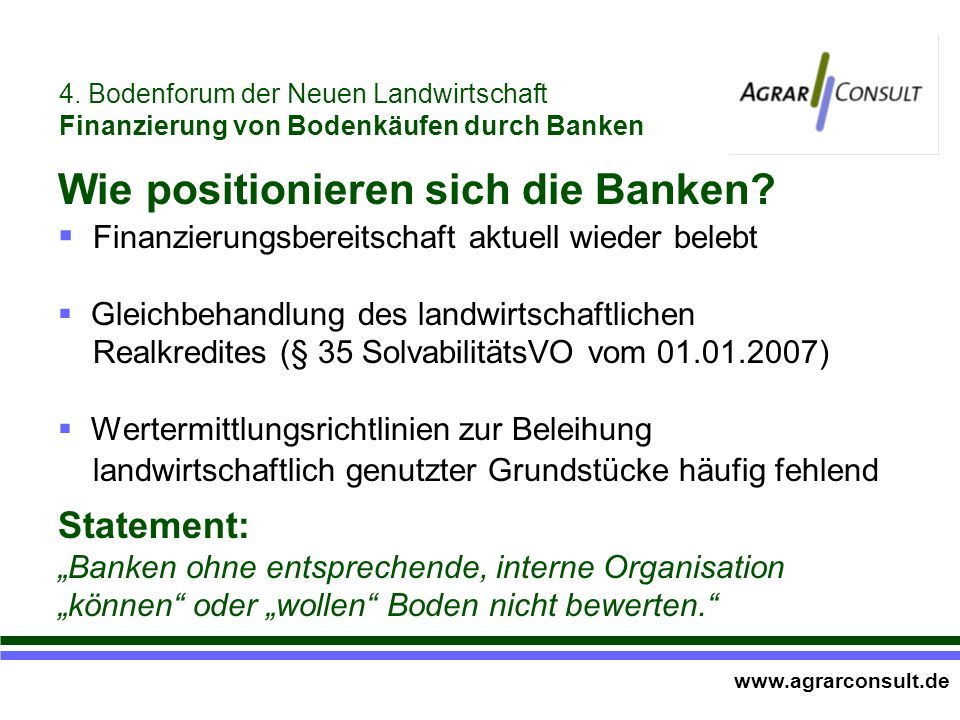 Wie positionieren sich die Banken.