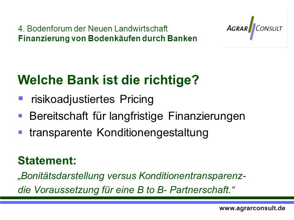 Welche Bank ist die richtige.