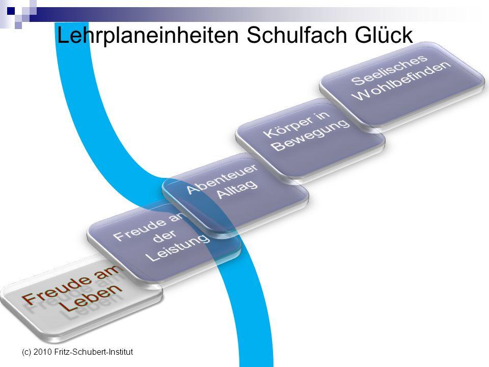Lehrplaneinheiten Schulfach Glück (c) 2010 Fritz-Schubert-Institut