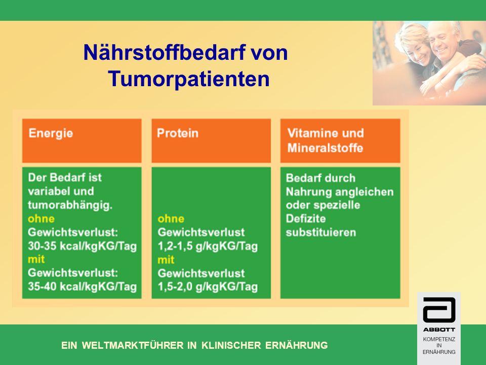 EIN WELTMARKTFÜHRER IN KLINISCHER ERNÄHRUNG Nährstoffbedarf von Tumorpatienten