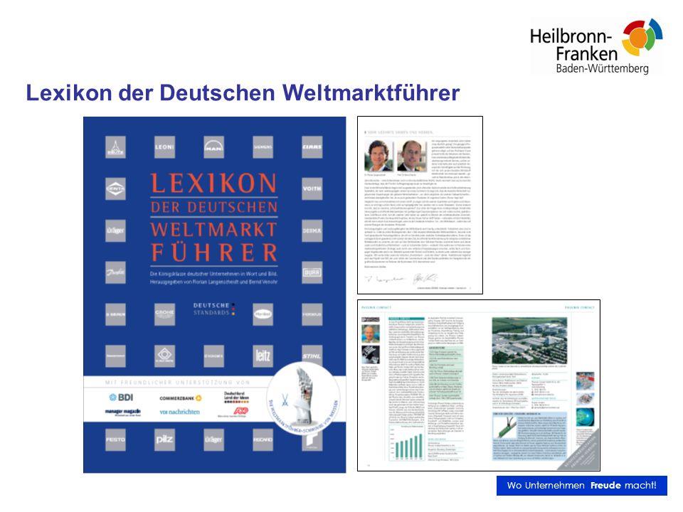 Lexikon der Deutschen Weltmarktführer Wo Unternehmen Freude macht!