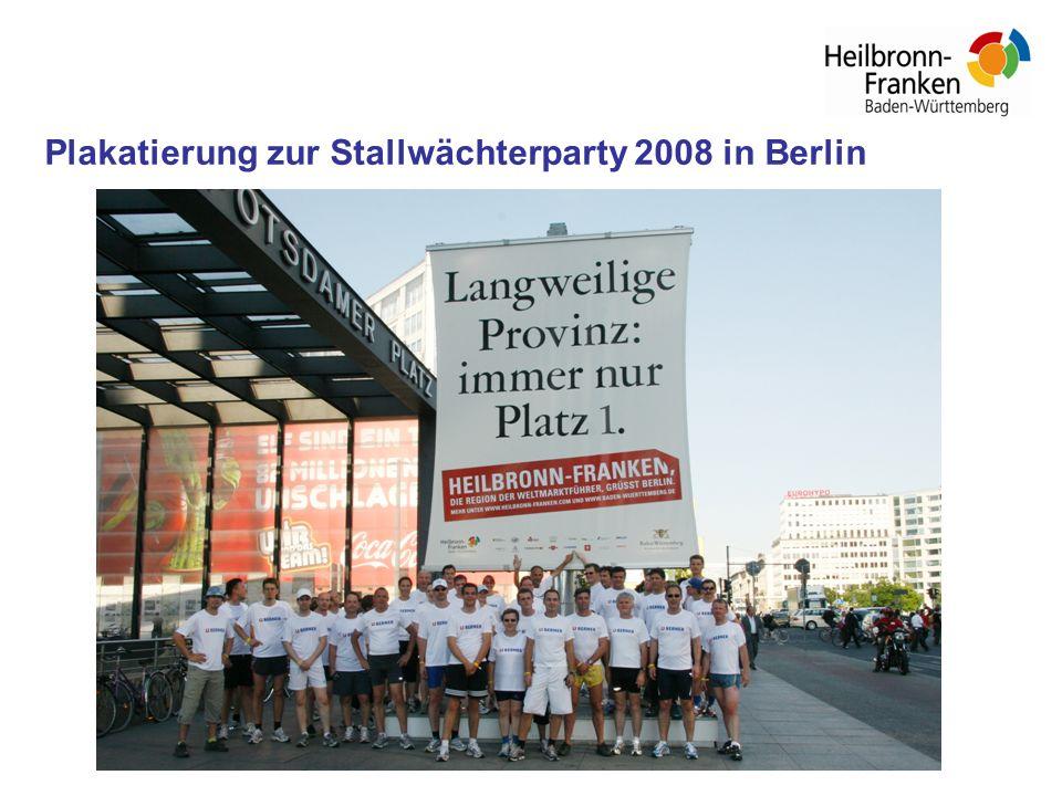 Plakatierung zur Stallwächterparty 2008 in Berlin