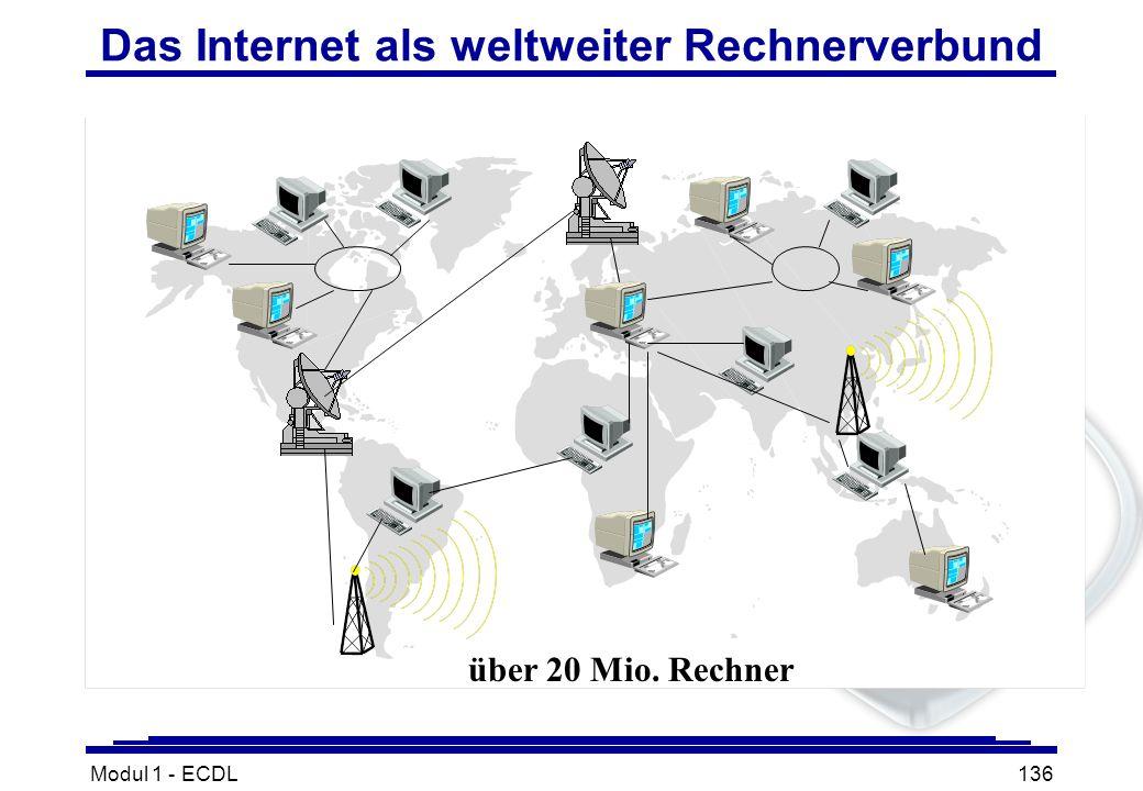 Modul 1 - ECDL136 Das Internet als weltweiter Rechnerverbund über 20 Mio. Rechner