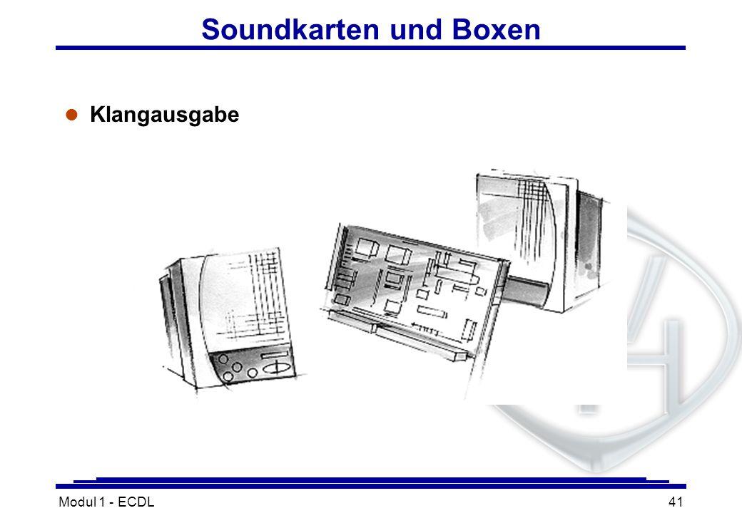 Modul 1 - ECDL41 Soundkarten und Boxen l Klangausgabe