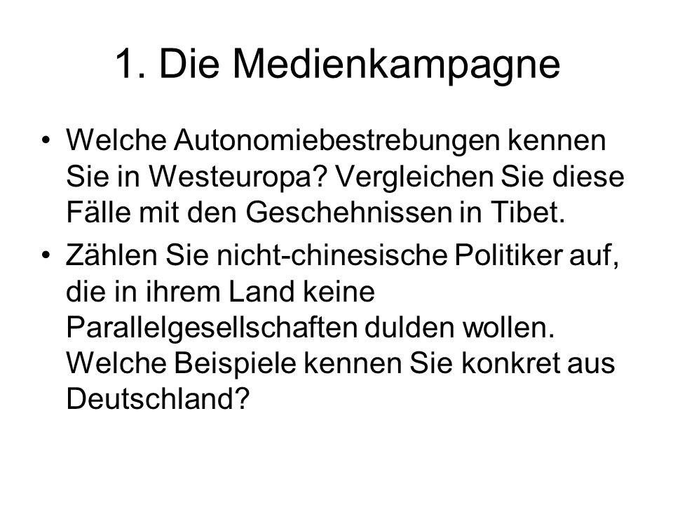 1. Die Medienkampagne Welche Autonomiebestrebungen kennen Sie in Westeuropa.