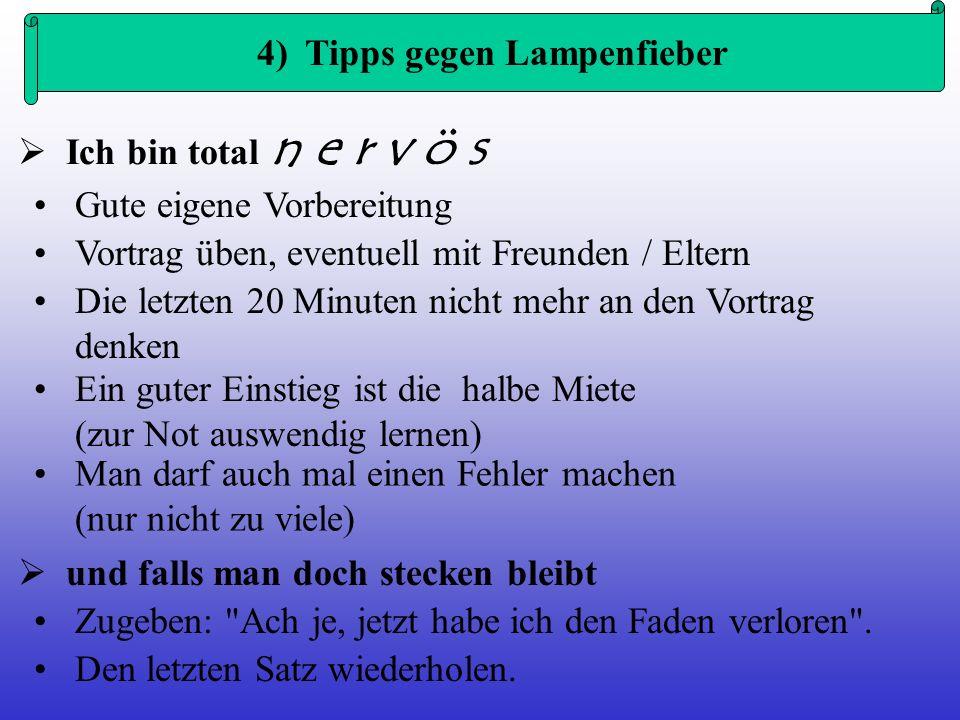 5) Grundregeln der Visualisierung Jedes Plakat / jede Folie braucht eine Überschrift.