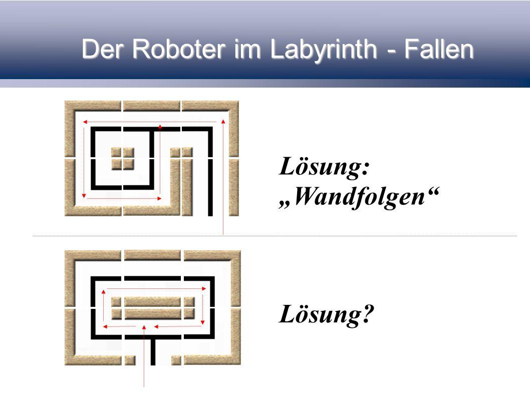 Lösungsstrategien Wir suchen den ultimativen Lösungsweg jedes Labyrinth zu verlassen.