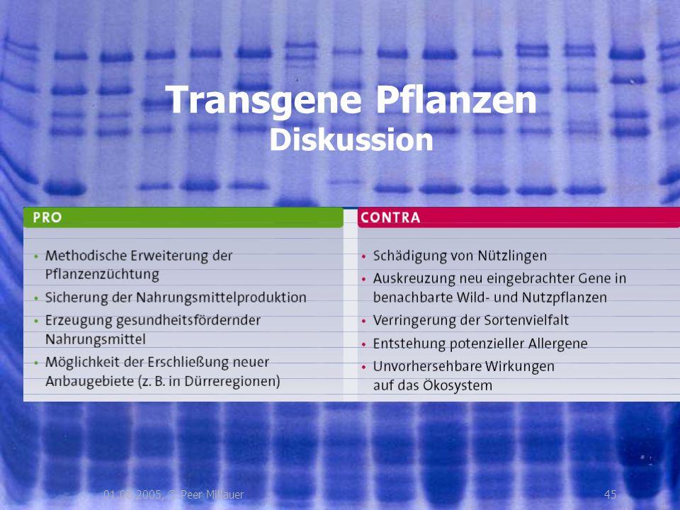 4501.08.2005, © Peer Millauer Transgene Pflanzen Diskussion