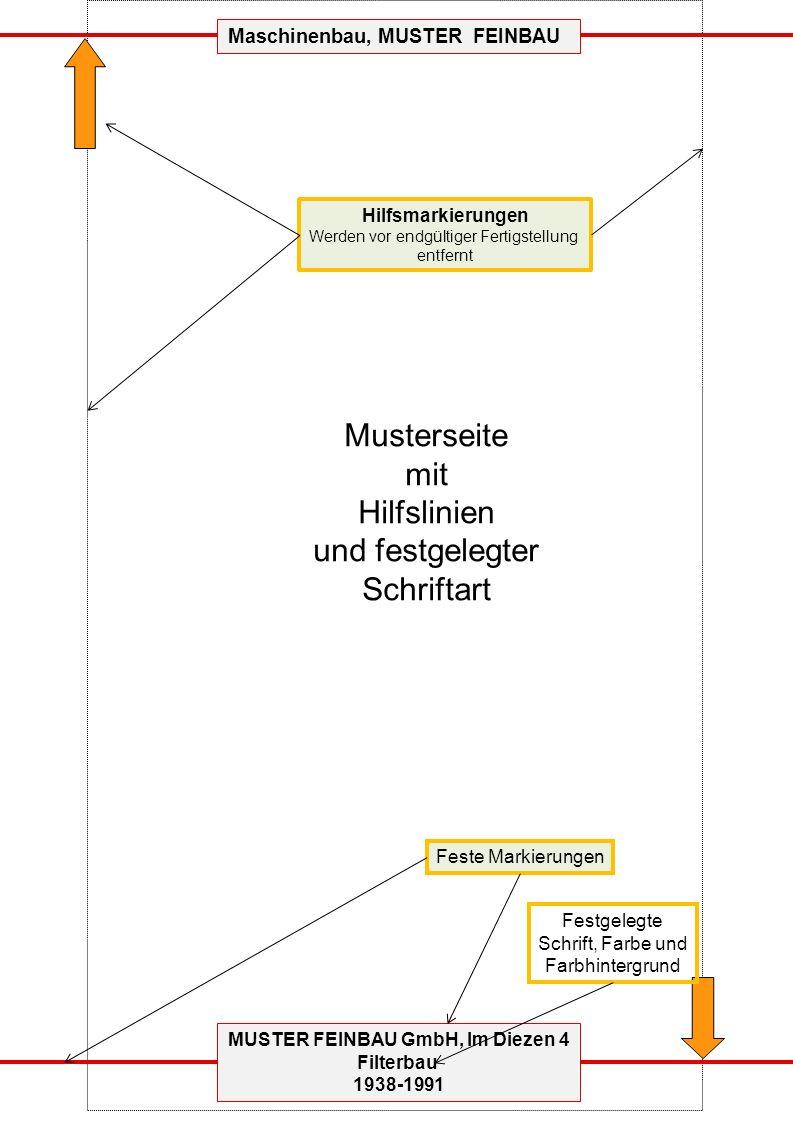 MUSTER FEINBAU GmbH, Im Diezen 4 Filterbau 1938-1991 Leerblatt als Vorlage Maschinenbau, MUSTER FEINBAU