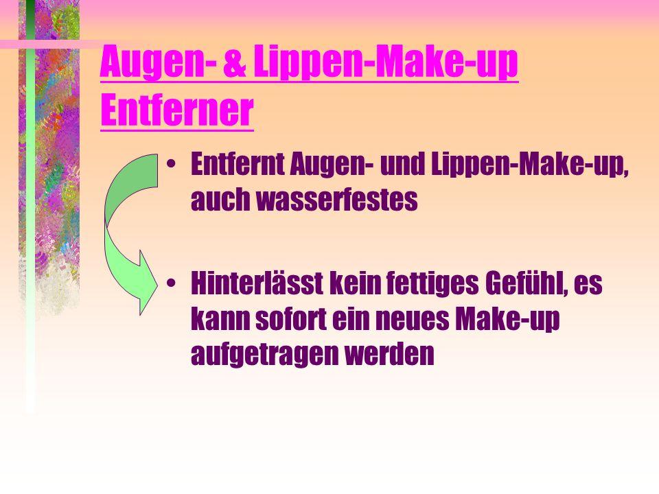 Augen- & Lippen-Make-up Entferner Entfernt Augen- und Lippen-Make-up, auch wasserfestes Hinterlässt kein fettiges Gefühl, es kann sofort ein neues Mak