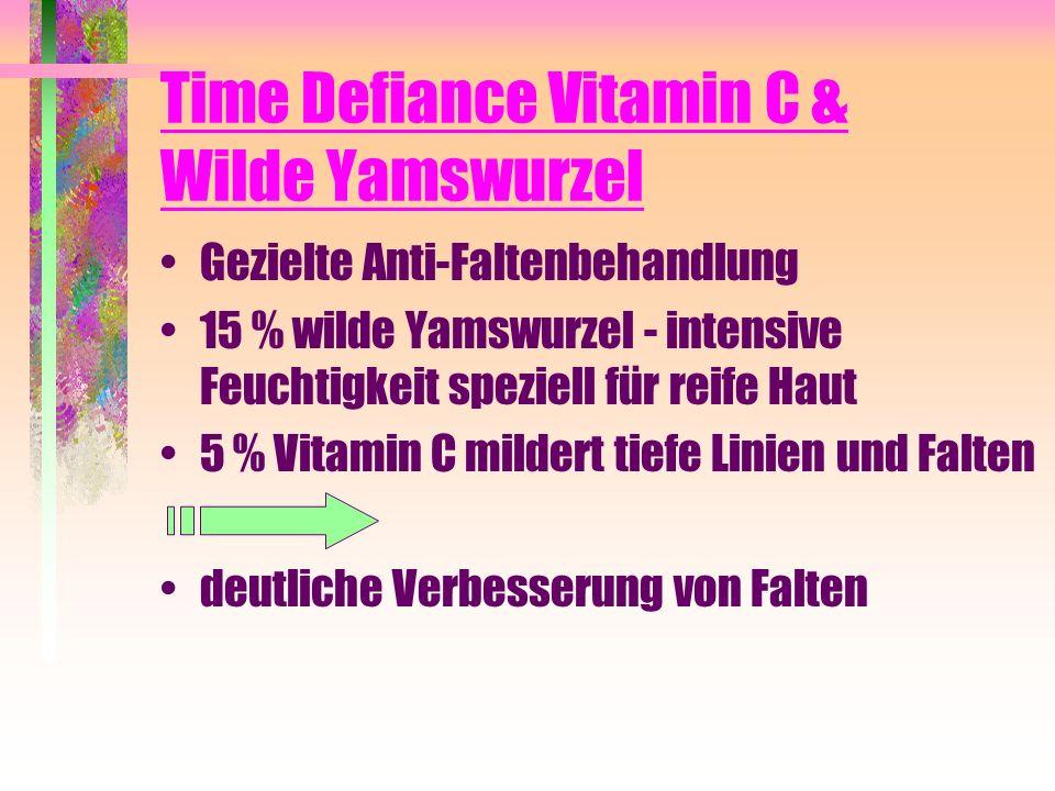 Time Defiance Vitamin C & Wilde Yamswurzel Gezielte Anti-Faltenbehandlung 15 % wilde Yamswurzel - intensive Feuchtigkeit speziell für reife Haut 5 % V