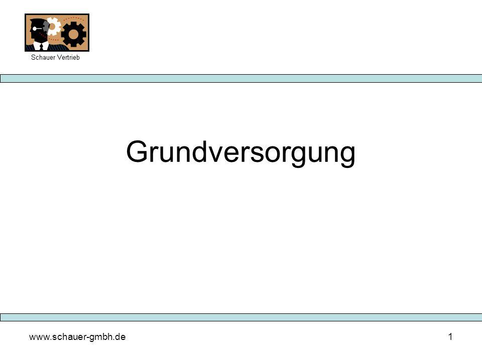 www.schauer-gmbh.de1 Grundversorgung