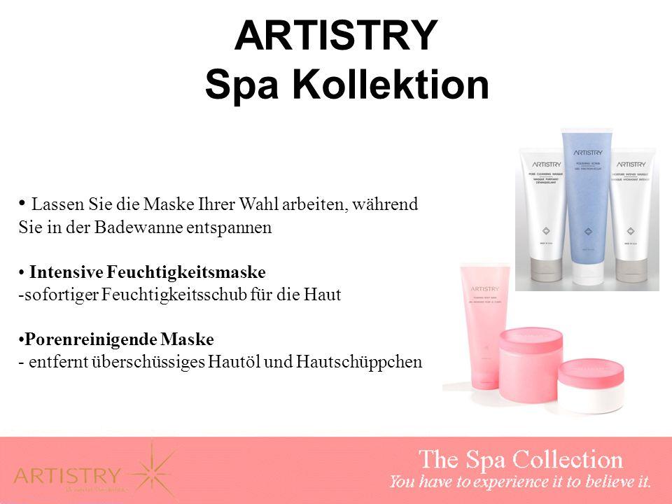 ARTISTRY Spa Kollektion Lassen Sie die Maske Ihrer Wahl arbeiten, während Sie in der Badewanne entspannen Intensive Feuchtigkeitsmaske -sofortiger Feu