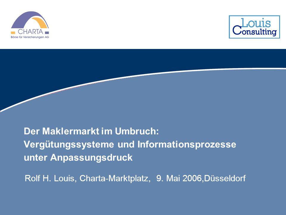 Der Maklermarkt im Umbruch: Vergütungssysteme und Informationsprozesse unter Anpassungsdruck Rolf H. Louis, Charta-Marktplatz, 9. Mai 2006,Düsseldorf