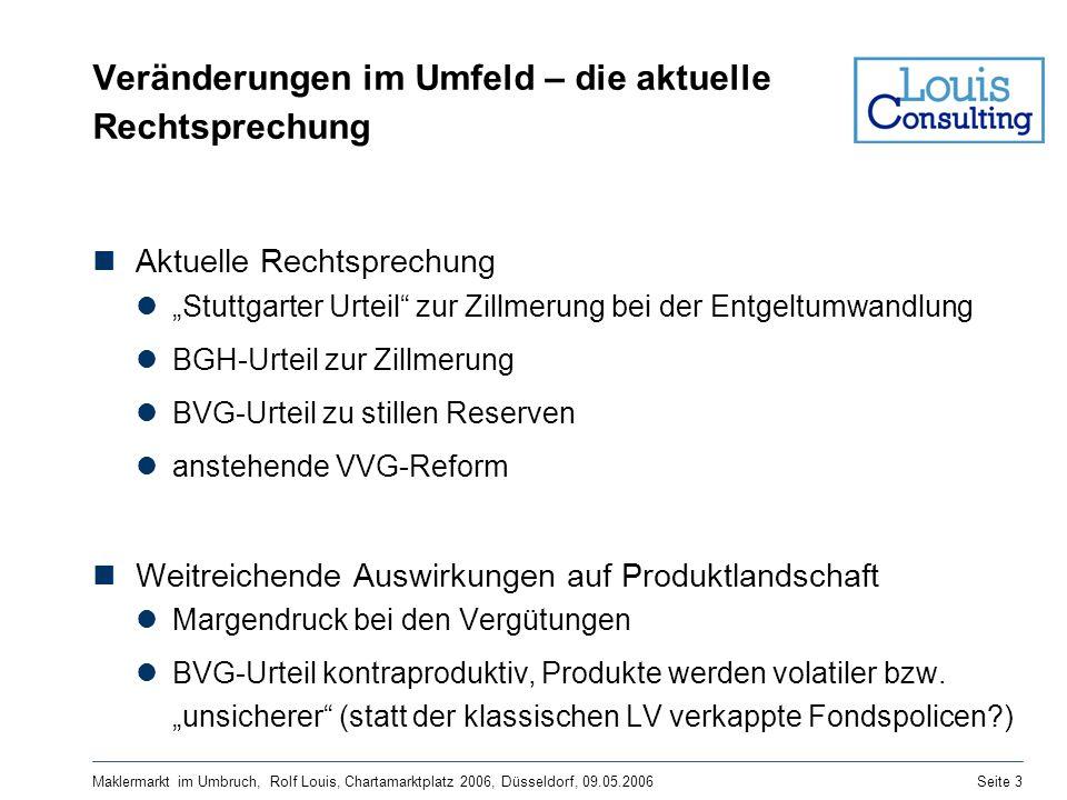 Maklermarkt im Umbruch, Rolf Louis, Chartamarktplatz 2006, Düsseldorf, 09.05.2006Seite 3 Veränderungen im Umfeld – die aktuelle Rechtsprechung Aktuell