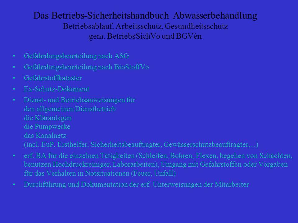 Inhaltsverzeichnis Teil 1: Allgemeine Dienst und Betriebsanweisung