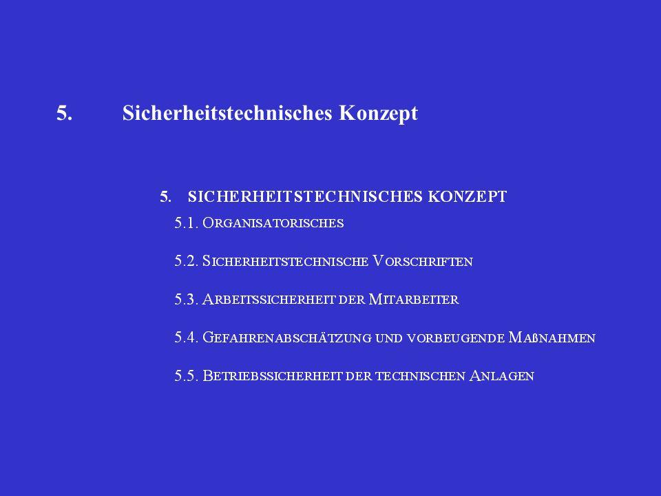 5.Sicherheitstechnisches Konzept