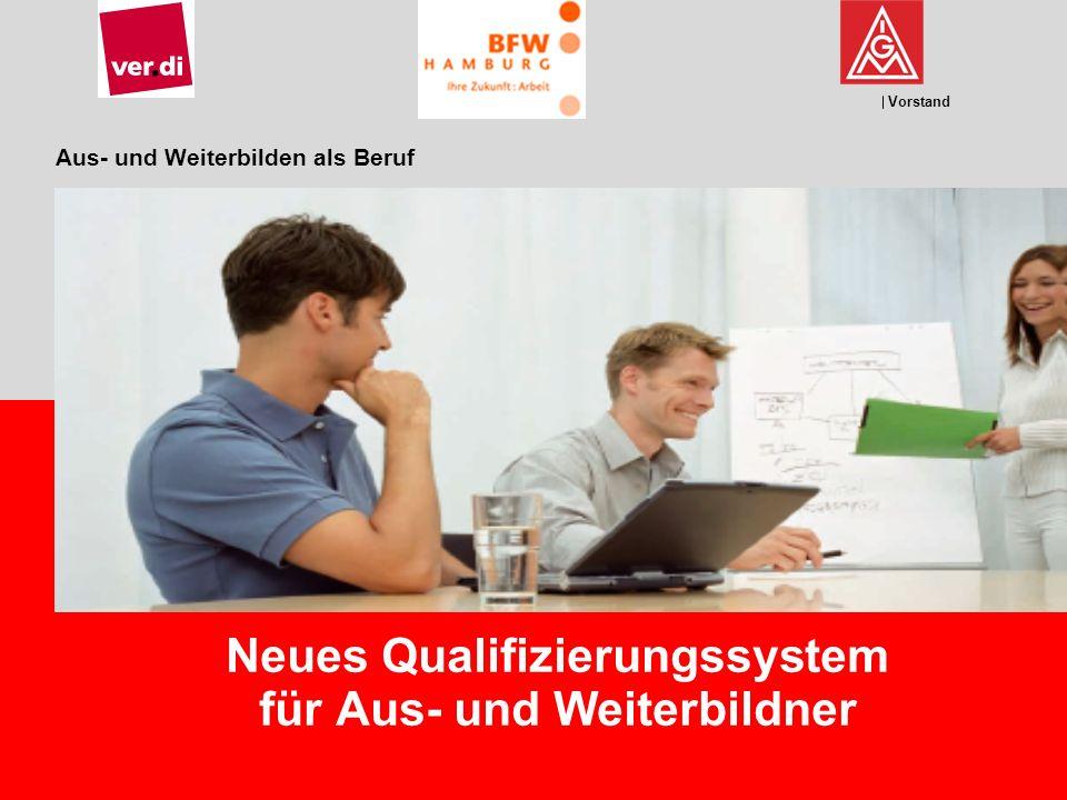 Vorstand Aus- und Weiterbilden als Beruf Neues Qualifizierungssystem für Aus- und Weiterbildner