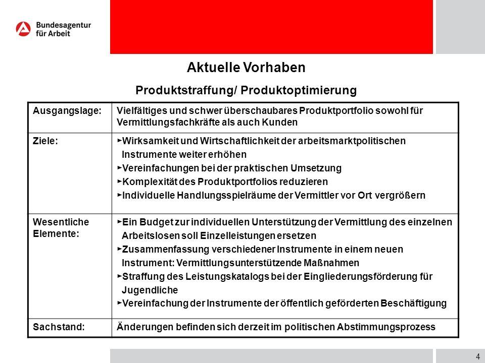 3 Wirkung ausgewählter arbeitsmarktpolitischer Instrumente (2007) EGZTMFbW§ 37§ 421i Eingliederungsquote (Austritte Mai 2006-April 2007) 81,4%51,4%54,