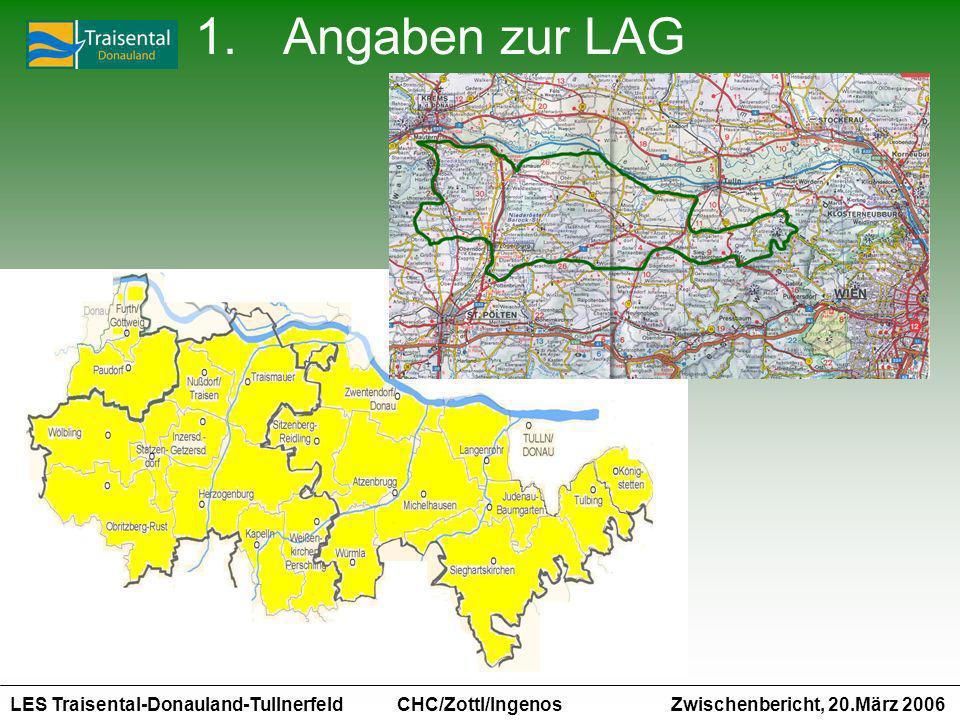 LES Traisental-Donauland-Tullnerfeld Zwischenbericht, 20.März 2006 CHC/Zottl/Ingenos 1.Angaben zur LAG