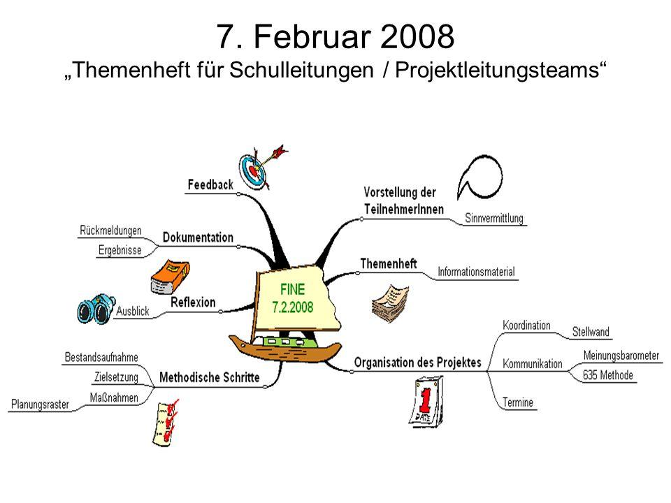 7. Februar 2008 Themenheft für Schulleitungen / Projektleitungsteams