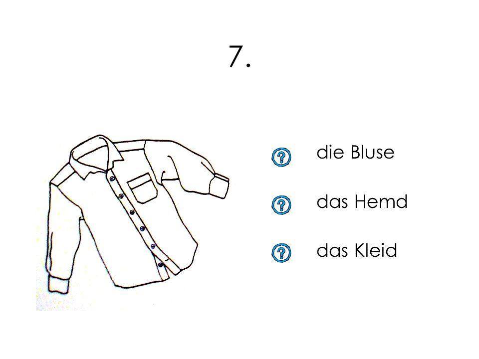 7. die Bluse das Hemd das Kleid
