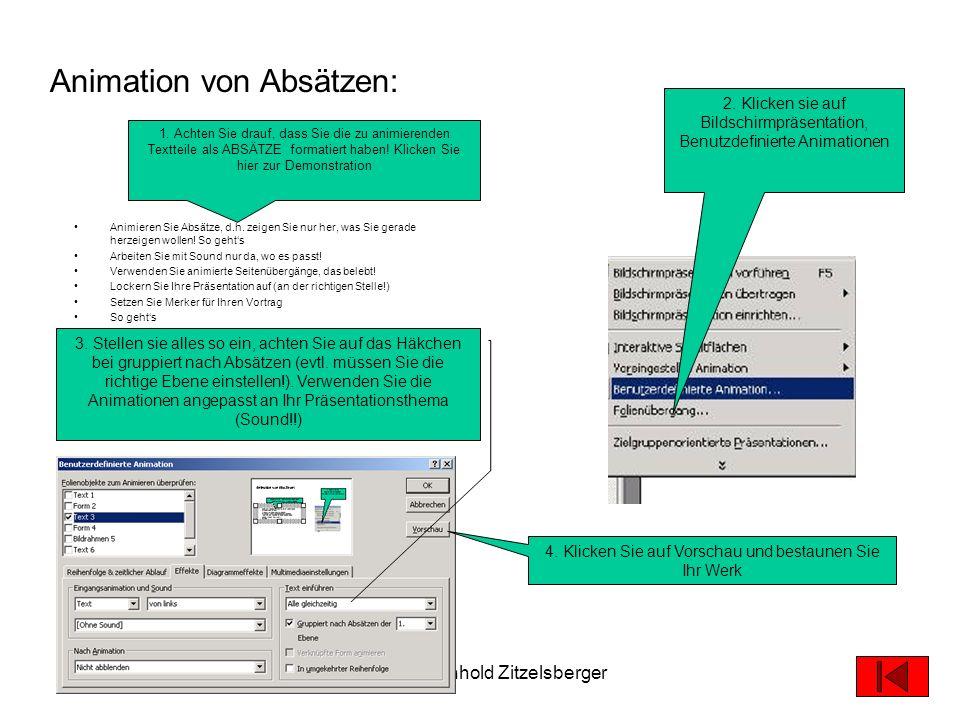 19.05.2003© 2003 Reinhold Zitzelsberger9 So speichern Sie: 1. Klicken Sie auf Datei, Speichern unter 2. Geben Sie Ihrer Datei einen Namen, der sich wi