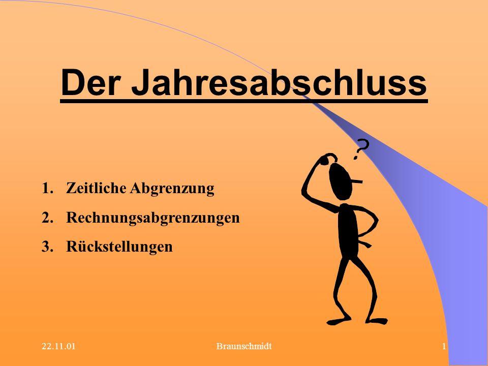 22.11.01Braunschmidt32 Passivierungsrecht besteht für: Ungewisse Verbindlichkeiten.