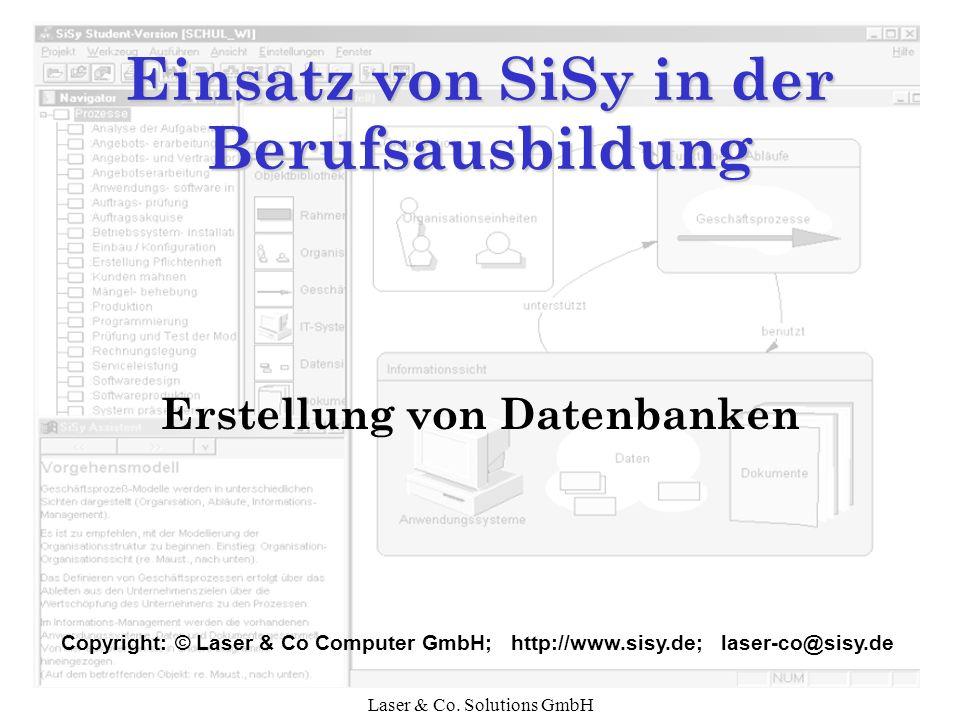 Laser & Co. Solutions GmbH Datenbank erzeugen