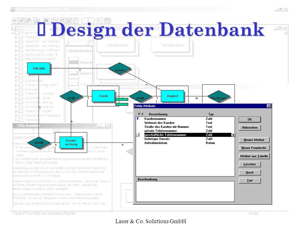Laser & Co. Solutions GmbH Ì Design der Datenbank