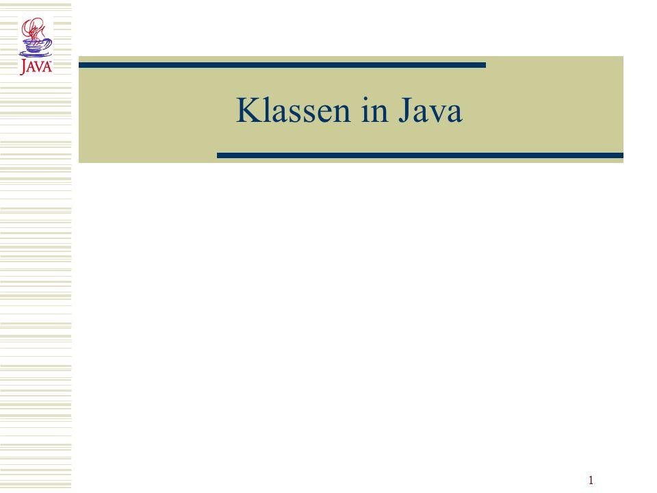 1 Klassen in Java
