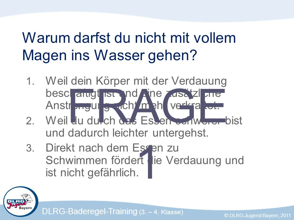 DLRG-Baderegel-Training (3.– 4.