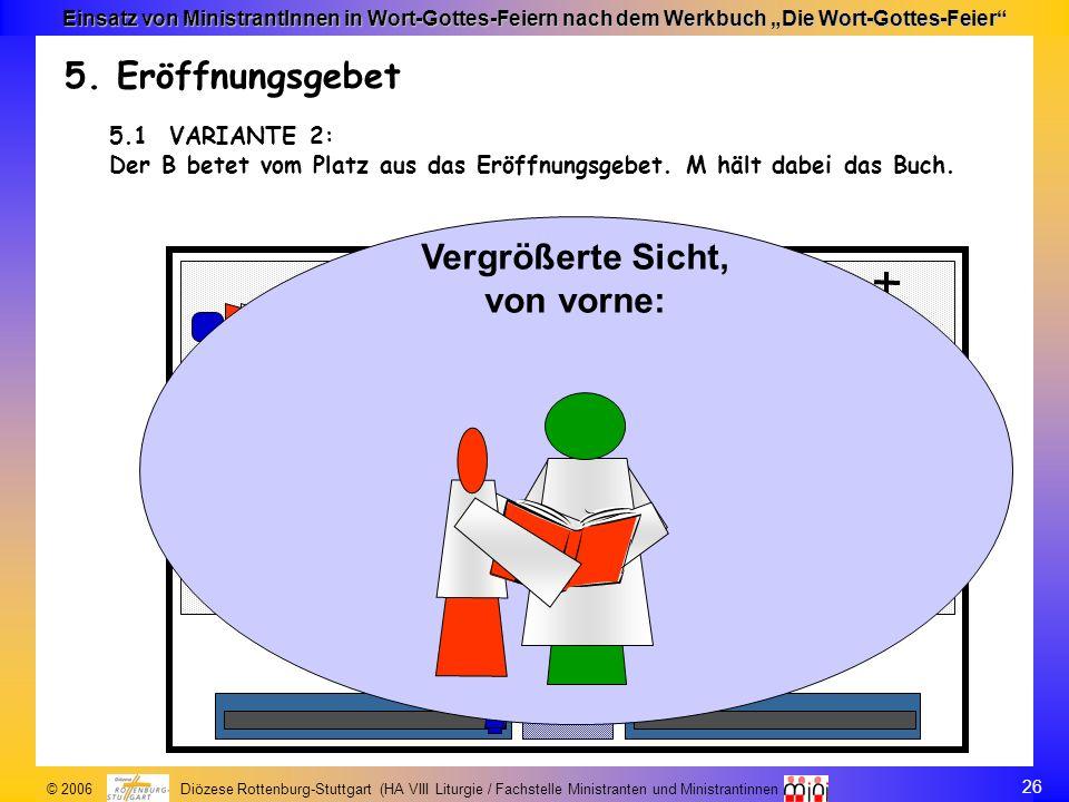 26 © 2006 Diözese Rottenburg-Stuttgart (HA VIII Liturgie / Fachstelle Ministranten und Ministrantinnen Einsatz von MinistrantInnen in Wort-Gottes-Feie