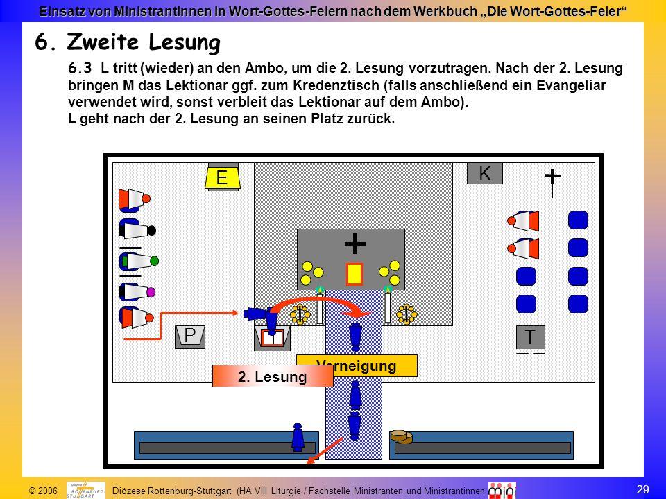 29 © 2006 Diözese Rottenburg-Stuttgart (HA VIII Liturgie / Fachstelle Ministranten und Ministrantinnen Einsatz von MinistrantInnen in Wort-Gottes-Feie