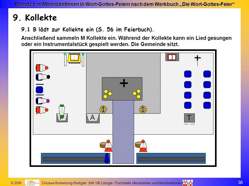 38 © 2006 Diözese Rottenburg-Stuttgart (HA VIII Liturgie / Fachstelle Ministranten und Ministrantinnen Einsatz von MinistrantInnen in Wort-Gottes-Feie