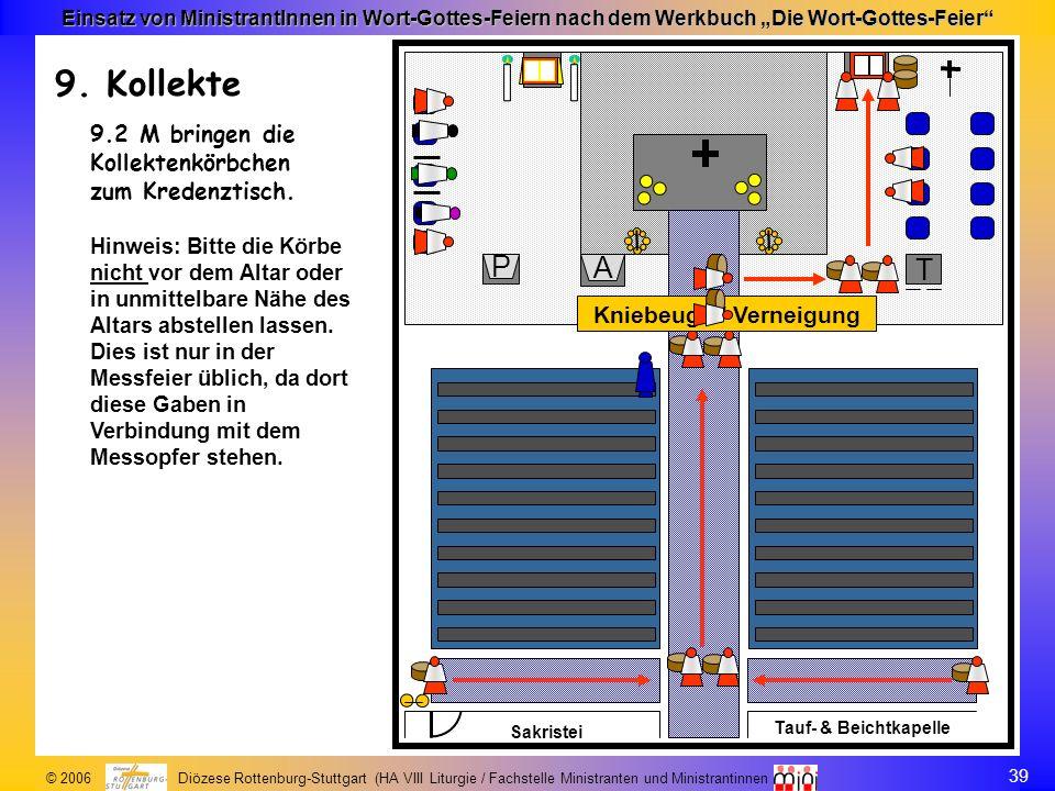 39 © 2006 Diözese Rottenburg-Stuttgart (HA VIII Liturgie / Fachstelle Ministranten und Ministrantinnen Einsatz von MinistrantInnen in Wort-Gottes-Feie