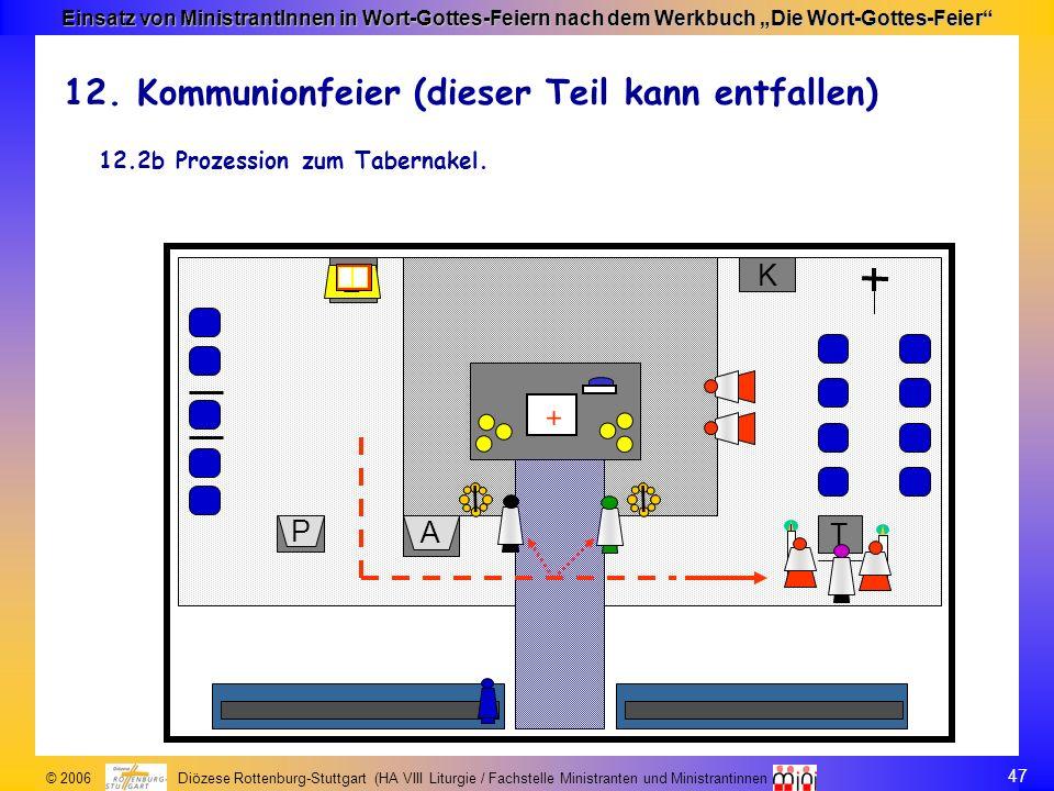47 © 2006 Diözese Rottenburg-Stuttgart (HA VIII Liturgie / Fachstelle Ministranten und Ministrantinnen Einsatz von MinistrantInnen in Wort-Gottes-Feie