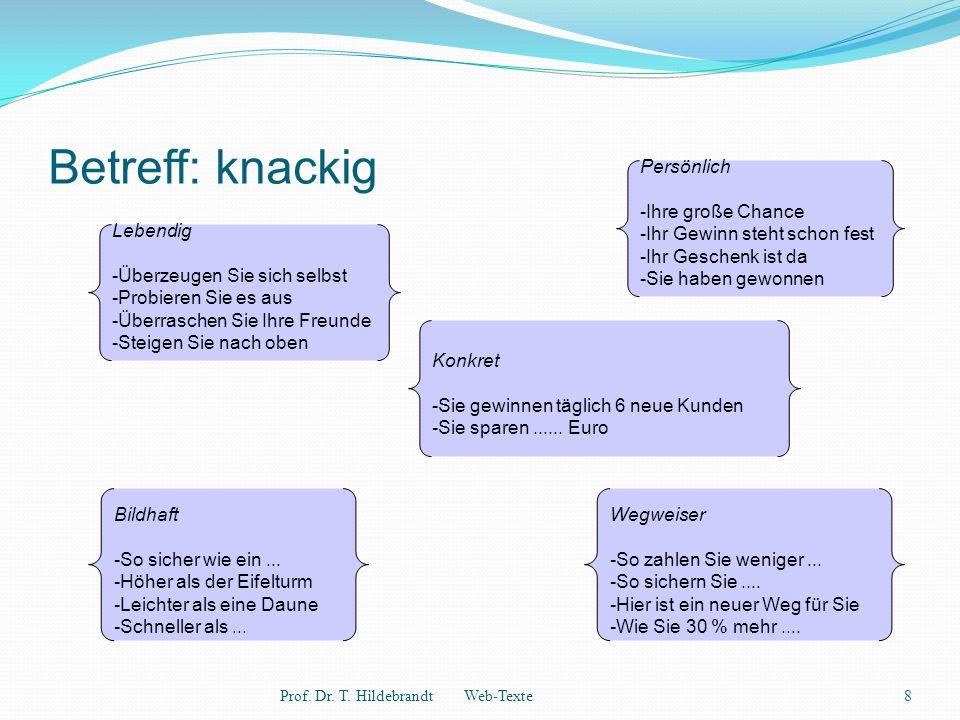 Betreff: knackig Prof. Dr. T.