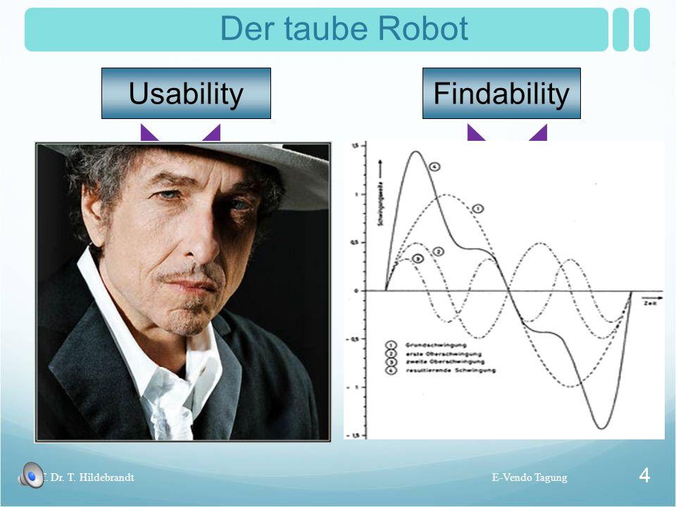 Der taube Robot E-Vendo TagungProf. Dr. T. Hildebrandt 4 FindabilityUsability QuelltextWebsite