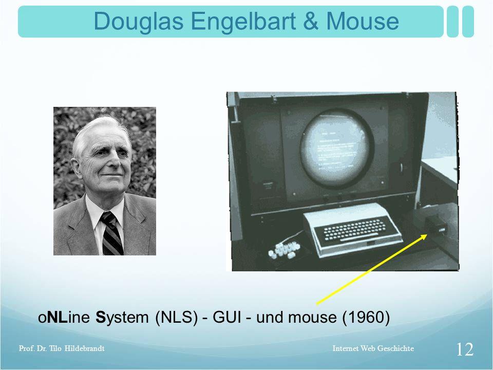 Marshal McLuhan Understanding Media (1964) The medium is the message..Global Village.. Internet Web Geschichte 11 Prof. Dr. Tilo Hildebrandt