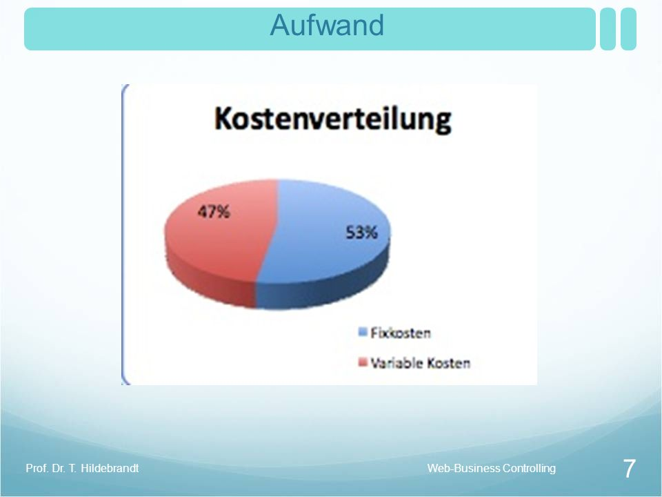 Aufwand 7 Prof. Dr. T. HildebrandtWeb-Business Controlling