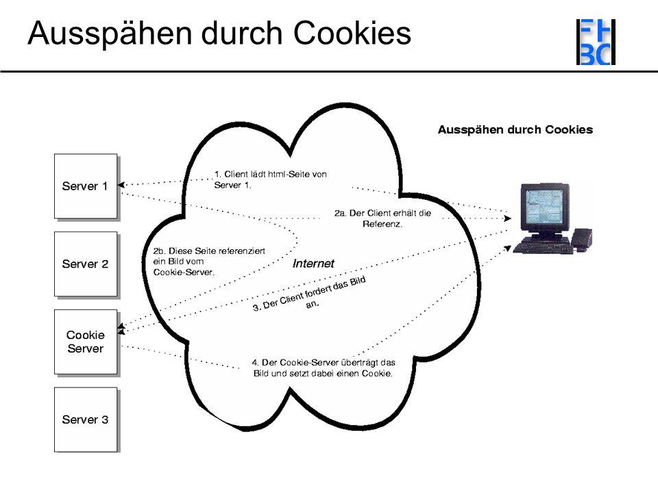 Ausspähen durch Cookies