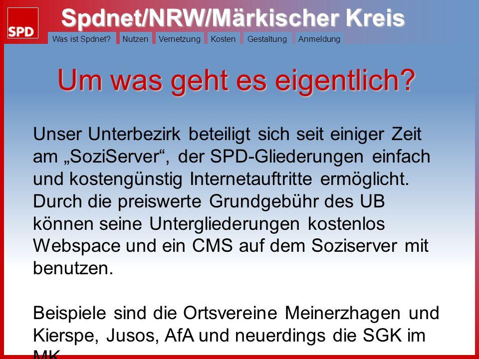 Spdnet/NRW/Märkischer Kreis Was ist Spdnet?NutzenVernetzungKostenGestaltungAnmeldung Wie soll unsere Seite aussehen.