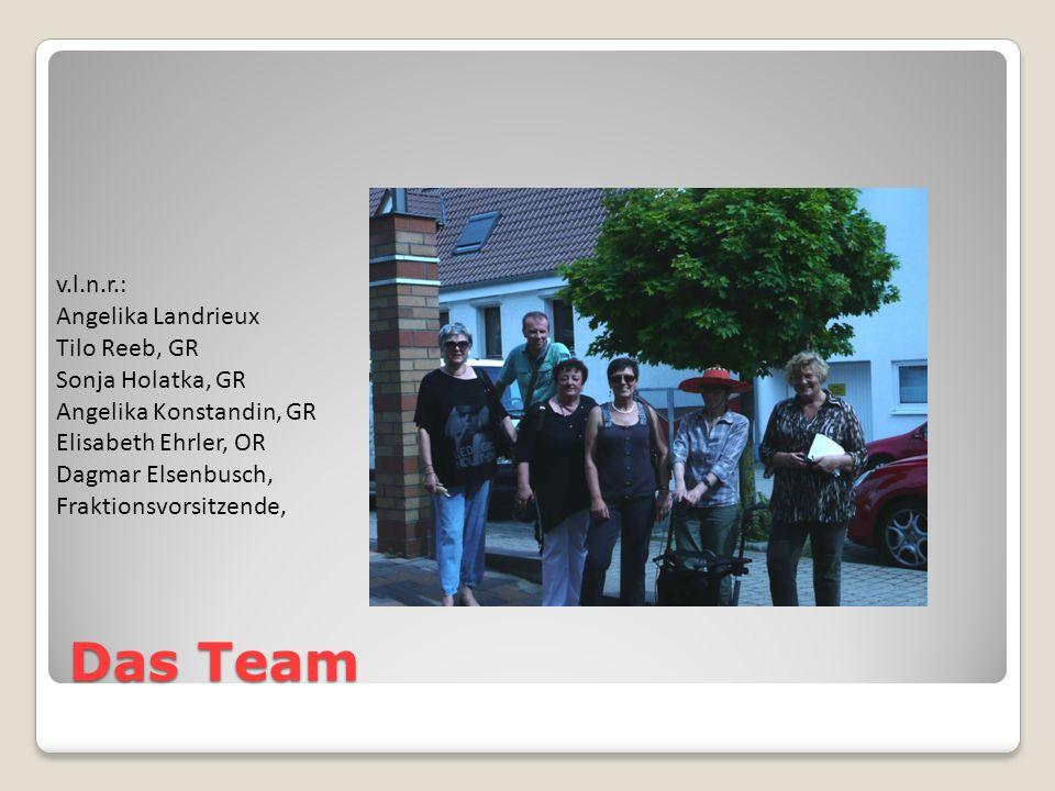 Das Team v.l.n.r.: Angelika Landrieux Tilo Reeb, GR Sonja Holatka, GR Angelika Konstandin, GR Elisabeth Ehrler, OR Dagmar Elsenbusch, Fraktionsvorsitzende,