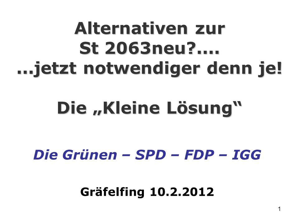 1 Alternativen zur St 2063neu?.......jetzt notwendiger denn je.