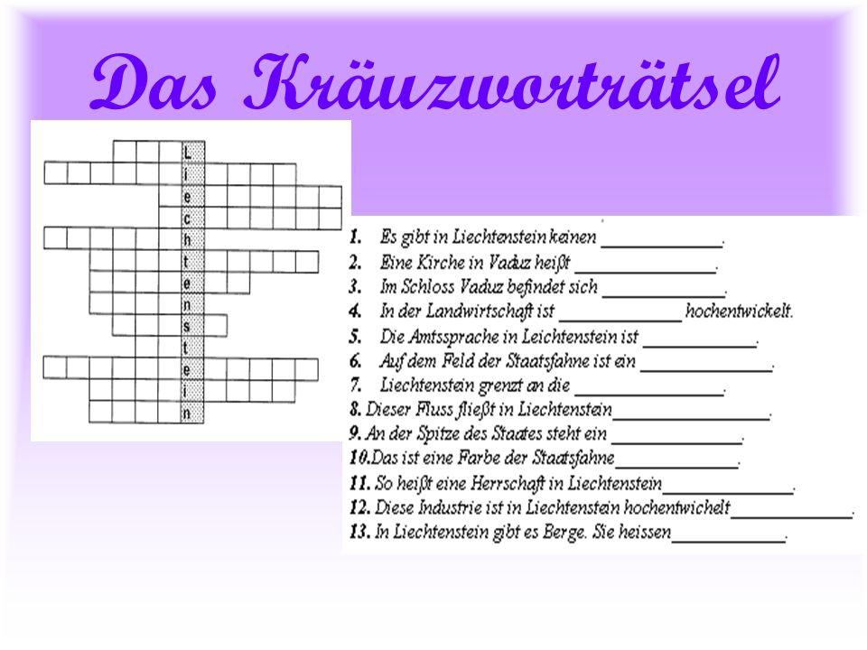 Die Antworten 1.Zoll 8.Rhein 2. Pfarrkirche 9. Fürst 3.