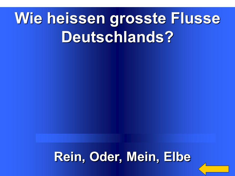 Welche Welche natürliche Grenze natürliche Grenze hat Deutschland? hat Deutschland? Die Nordsee, die Ostsee