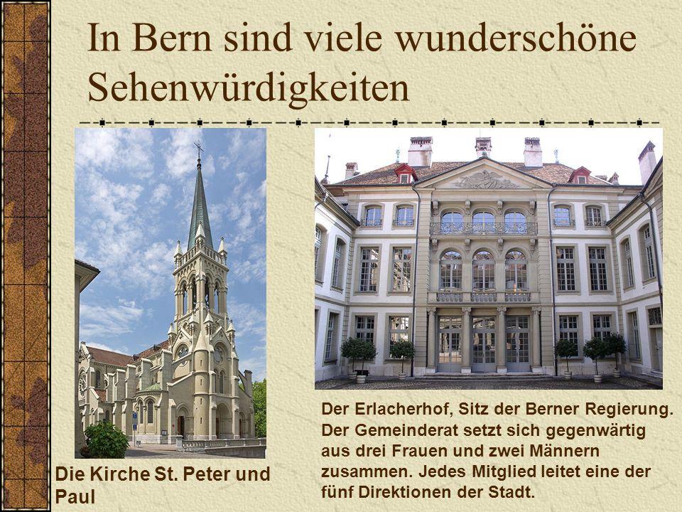 In Bern sind viele wunderschöne Sehenwürdigkeiten Die Kirche St.