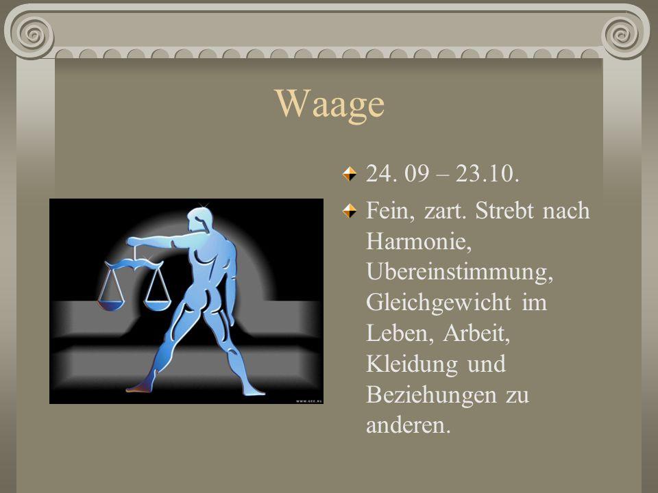 Jungfrau 24.08 – 23.09. Hat analytische Fahigkeiten, intellektuell, akkurat, kleinlich, korrekt. Kopfmensch. Liebt Unerwartetes.